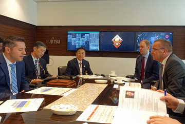 Treffen mit IT-Experten im Fujitsu Security Initiative Center (Tokio)
